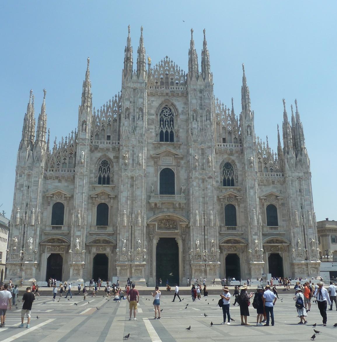 Milánsky dóm -druhá najväčšia gotická katedrála na svete (foto imriš, 2019)