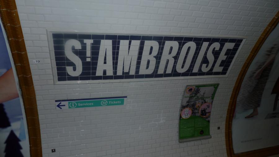 Stanica metra Sv. Ambróz, (Paríž, Francúzko)