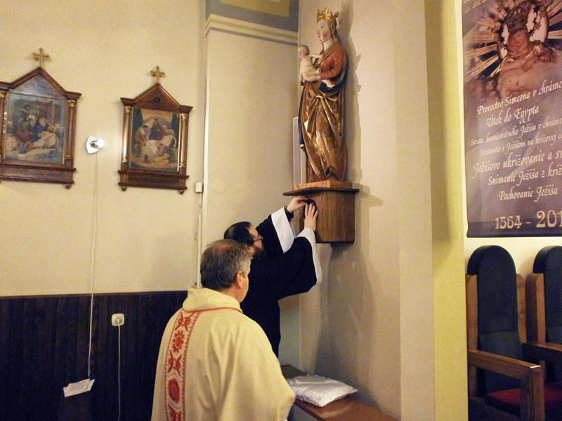 inštalácie relikvií v kostole sv. Ladislava